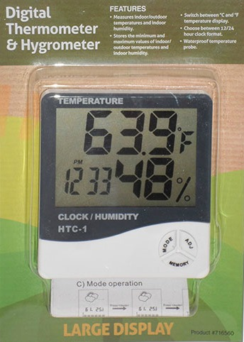 digital thermometer & humidity meter (htc 1)  25 thermometerhygrometer for indoor gardens #15