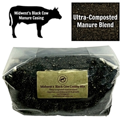 Midwests Black Cow Manure Casing Mix - 5 lbs manure, casing, substrate