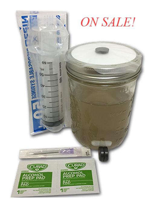 Premium Liquid Culture Kit - Easy Spore Germinating & Mushroom Cloning  System