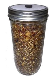 Premium Quick-Colonizing 5-grain Jar (24oz)  spawn bags, 5grain, fast growing jars. Bulk casing substrate