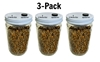 3-Pack Premium Quick-Colonizing 5-grain Jar (30oz)  spawn bags, 5grain, fast growing jars. Bulk casing substrate