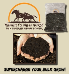 Midwests Wild Horse Bulk Substrate Manure Booster  manure, casing, substrate
