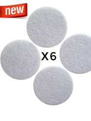 Monotub Adhesive Filter Disks (6-Pack) filter disc, 90mm, synthetic filter disk, polyfil