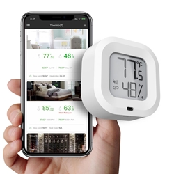 Wireless Smart Thermometer/Hygrometer with iPhone & Android App